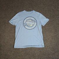 Banana Republic 'Global Travel Safari' Graphic Logo Blue T-Shirt Large