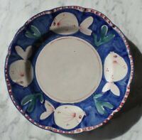 """CAMPAGNA"" SERVICE PLATES/CHARGERS BY VIETRI (ITALY) 