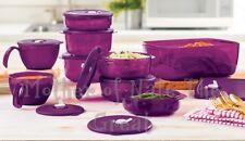 TUPPERWARE Vent n Serve Lot of Purple Large 9 Piece Set Microwaveable NEW!