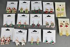 Christmas holiday dangle painted lightweight earrings jewelry secret santa gift