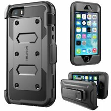 For iPhone 5/5s/SE Case, i-Blason [Armorbox] Holster Cover with Screen Protector