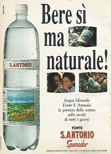 X0165 Acqua Fonte S. Antonio Spumador - Pubblicità 1992 - Vintage Advertising