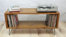 Rustic Industrial Wooden Cabinet Vinyl Record Player  Stand TV Unit NO DIVIDER