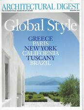 ARCHITECTURAL DIGEST (Jan 2011) Global Style Greece Tuscany Brazil Paris NY Calf