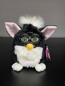 1998 Tiger Electronics Furby Black And White Doll  * RARE*  MODEL 70-800