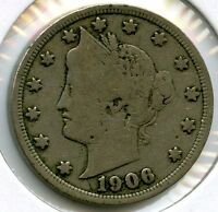 1906 Liberty V Nickel - Five Cents - KW725