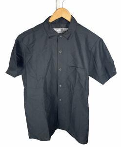 New Vintage Red Kap Chef Designs Black Size L Short Sleeve Button Up