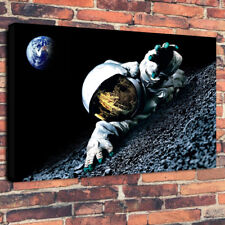 """Falling Astronaut Printed Box Canvas Picture A1.30""""x20""""30mm Deep Wall Art"""
