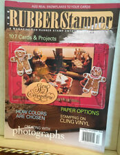 RUBBER STAMPER MAGAZINE BACK ISSUE~NOV-DEC-2006-CARDS & PROJECTS HOLIDAY-SNOWFKS