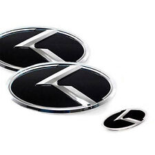 Front Hood Rear Trunk Evolution K Logo Emblem 3p For 2011-2015 Kia Optima : K5