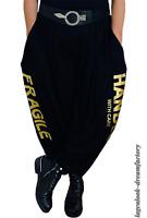 MYO-Lagenlook schmale Ballonhose Jogpants Gold-Print 42 44 46 48 50 52 54 56