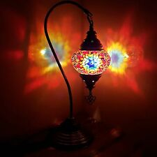 Turkish Moroccan Colourful Lamp Light Tiffany Glass Desk Table UK SELLER