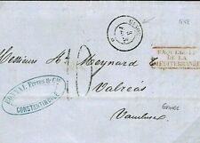 FRANCE LEVANT Cover Constantinople Turkey Per French Paquebot *GANGE* 1858 Q97d