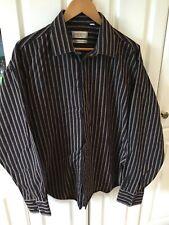 Men`s Yves Saint Laurent striped 100% cotton long sleeve shirt XL