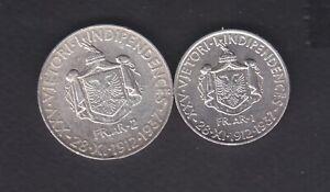 1912-1937 Albania. Albanian Used Silver 1+2FR.AR. .Coin. 131/3