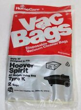 NEW Vacuum Cleaner Bags Hoover Spirit Type K Style 57 Package of 2