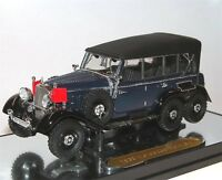 Signature Models, 1938 Mercedes-Benz G4 closed blue/black, 3-Achser, 1/43