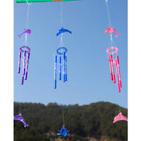 Dolphin Creative Crystal 4 Metal Tubes Windchime Wind Chime Home House Decor new