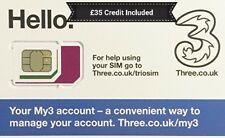 Three(3) PaYG Sim Card With Everything Unlimited, Calls✔ + Texts✔ + Data✔30Days✔