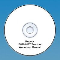 Kubota B8200HST Tractor - Workshop Manual PDF CD