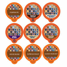 Double Donut Coffee Variety Pack Sampler for Keurig K-cup Brewers, 40 Count
