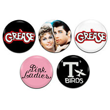 5x Grease Movie Musical 25mm / 1 Inch D Pin Button Badges