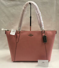 Authentic Coach Crossgrain Leather Ava Tote Blush 57526 NWT $350