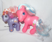 2 Lot 2002 G3 My Little Pony Baby Romperooni Cotton Candy Figures Play or OOAK