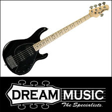 Ernie Ball Music Man Stingray 5HH Dual Humbucker 5-String Bass Black RRP$4399