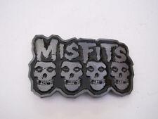 Misfits classic Skull Image Black Enamelled pewter plated finish Belt Buckle