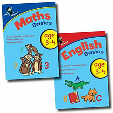 Leap ahead Maths and English  Basics ages 3-4, 2 Set Book Collection, Easy Pb