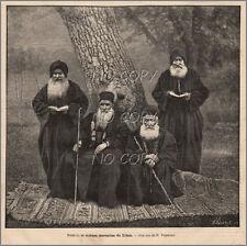 1884 : ILLUSTRATION / GRAVURE : PRÊTRES MOINES MARONITES du LIBAN par F.VINTRAUT