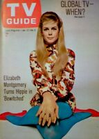 TV Guide 1968 Bewitched Elizabeth Montgomery Turns Hippie Agnes Moorehead NM COA