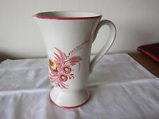 New listing Vintage Italian Pottery Hand Painted Floral Pitcher - 7 1/2 in Tall