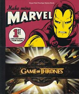 GB 2019 Marvel RM DY29 & 2018 Game of Thrones DY24 Prestige Booklets  FV £34.71