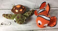 Nemo & Squirt - Finding Nemo Plush Toys Stuffed #10634 Disney 8 inches - EUC
