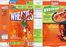 2007 Bill Russell Nba Legend Champions Wheaties Cereal Box shm570