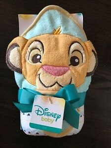 "Disney Lion King Hooded Towel and Washcloth Towel - 26""X30"" Washcloth - 9""x9"""