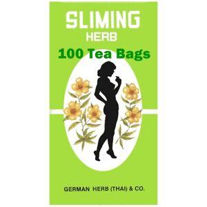 100 Slimming German Sliming Herb Tea Bags Weight Loss Laxative Detox