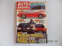 AUTO HEBDO N°604 du 16 Décembre 1987 ALBINA B6 LANCIA THEMA 832   G16