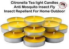 Citronella Tealight Candles Anti Mosquito Insect Fly Insect Repellent In/Outdoor