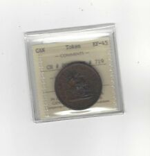 **Canada Token**PC-6D / Breton #719, ICCS Graded **EF-45** One Penny Token
