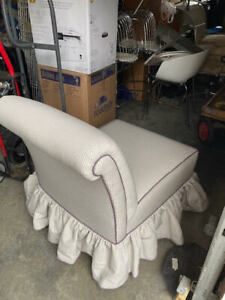 Custom pair of slipper chairs