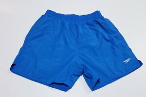 Mens size S, Speedo, Blue lined swim / board shorts, drawcord,