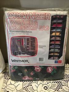 "WHITMOR Organizer Sweater Bag - 54"" LONG  x 12.5 "" DEEP x 14.5"" WIDE -new"