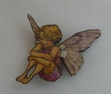 Flower Fairy Brooch or Scarf Pin Wood Accessories Fashion NEW Purple Multi-Color