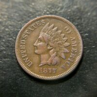 1877 Indian Head Cent Choice XF Extremely Fine Key Date Liberty Penny 1c EF