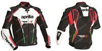 APRILIA Racing Motorcycle Biker Leather Jacket Mens Motorbike Leather Jackets 56