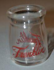 "Vintage 1 5/8"" Franklin Milk Co Minneapolis Glass Dairy Creamer"