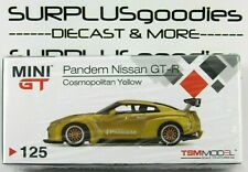 TSM Model Mini-GT 2020 Overseas Edition LHD PANDEM Cosmo Yellow NISSAN GT-R R35